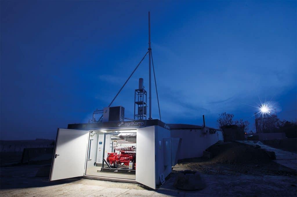 BHKW der agriSelect Kleinanlage in Zeulenroda, Deutschland