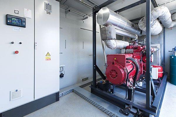 CHP from agriSelect Biogas Plant in Prichsenstadt, Deutschland