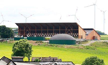 Güllewerk in Brachtendorf, Deutschland