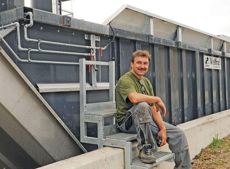 Operatore dell'impianto per liquami Flex a Hellmitzheim, Iphofen, Germania